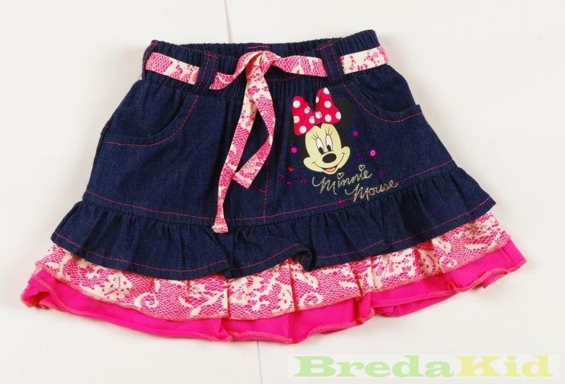 Disney Minnie Csipkés Hatású Farmer Szoknya (Pink 1e6a4bc54f