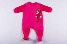 Disney Minnie Bébi Bolyhos Overál Pizsama / Talpas Egybe Rugdalozó