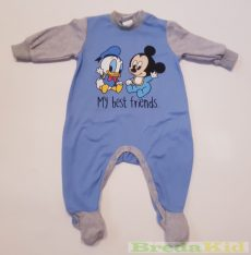 Disney Mickey Bébi Egybe Rugdalozó (68cm, 6 hó, Kék/Szürke) UTOLSÓ DARAB
