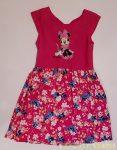 Disney Minnie Ujjatlan Nyári Ruha (Virágmintás, Hátul Masnis)(116cm, 5 év, Pink) UTOLSÓ DARAB