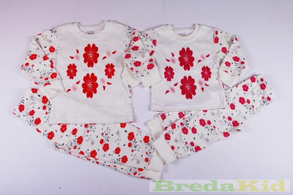 Lány Virágos Pizsama - BredaKid Gyerekruha Webáruház 91ae848637
