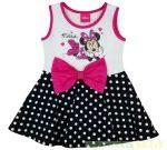 Disney Minnie Ujjatlan Nyári Ruha (Fehér, Rózsaszín Masnis)