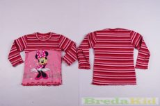 Disney Minnie Bolyhos Pulóver (80cm, 116cm, Rózsaszín/Bordó Csikos) UTOLSÓ DARABOK