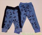 Disney Mickey Bébi Bolyhos Nadrág (Telimintás Kék, Szürke)