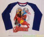 Avengers (Bosszúállók) Hosszú Ujjú Póló (Fehér/Kék)
