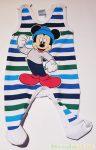 Disney Mickey Bébi Bolyhos Ujjatlan Csikos Rugdalozó