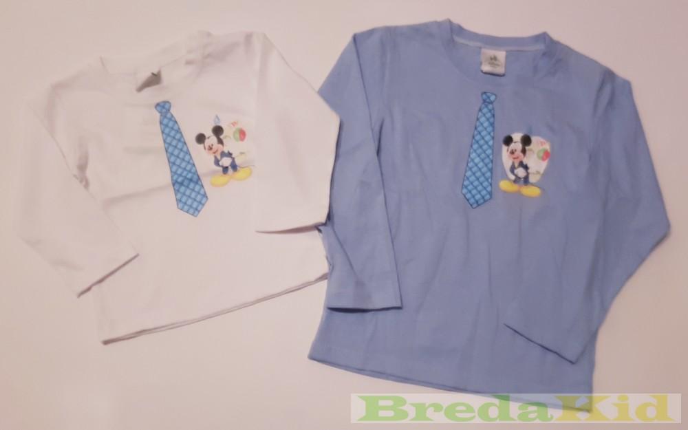 Disney Mickey Hosszú Ujjú Póló (Nyakkendős)(Fehér 2f404baad9
