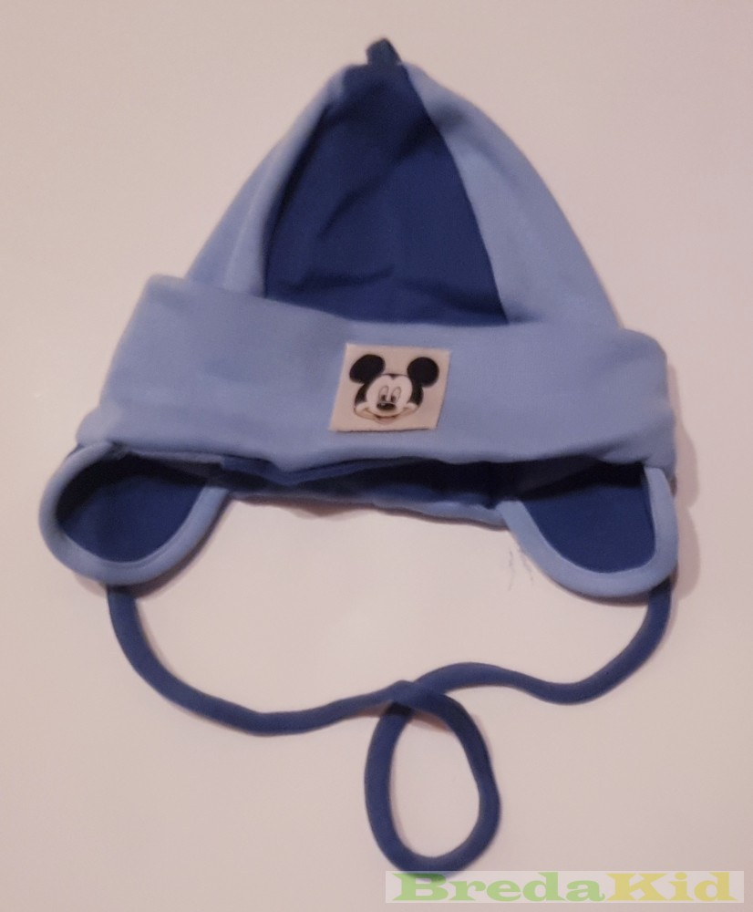 Disney Mickey Baby Napped Cotton Hat With Strings - BredaKid ... 1165b224b5