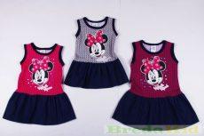 Disney Minnie Nyári Pöttyös Ujjatlan Farmer Ruha (Pink, Szürke, Lila)