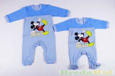 Disney Mickey Bébi Vékony Egybe Rugdalozó (Kék, Graffit, Sötétkék)