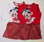 Disney Minnie Hosszú Ujjú Ruha (Karácsonyi)(Fehér/Piros, Piros)