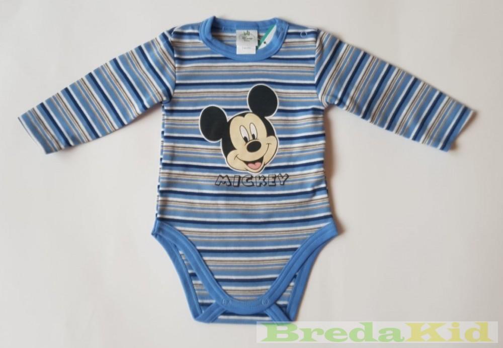 Disney Mickey Bébi Bolyhos Hosszú Ujjú Body (Kék 4f688eb693