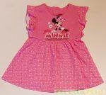Disney Minnie Fodros Rövid Ujjú Nyári Ruha (Rózsa, Pink Pöttyös)