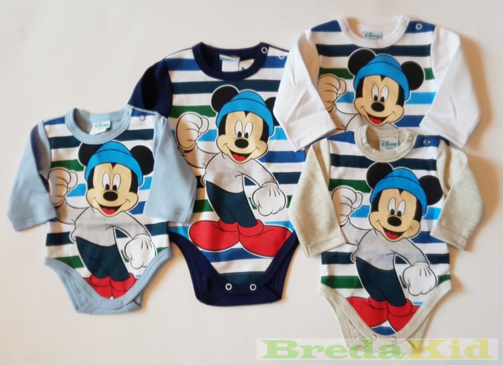 5efff485ba Disney Mickey Bébi Hosszú Ujjú Body (Csíkos) - BredaKid Gyerekruha ...