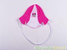 Disney Minnie Bébi Nyári Megkötős Kalap Fülvédővel (68cm, 74cm, 80cm, Fehér/rózsaszín) UTOLSÓ DARABOK